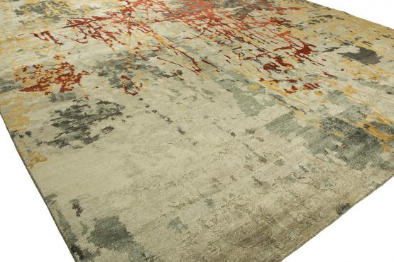 NJ-670 Jolie Hand Knotted Rug Color Beige Spice