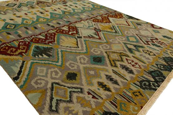 Sumarkan US-480 Boho Beige Wool Rug