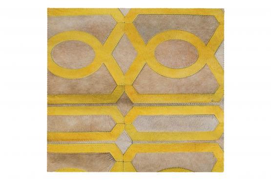 Custom Cowhide Trim Taupe/Gold