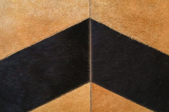 Custom Cowhide HerringBone Oat Black