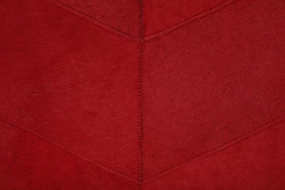 Custom Cowhide Herringbone Dye Scarlet