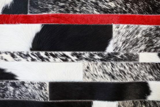 Custom Cowhide Stripes Holstein Scarlet Accent