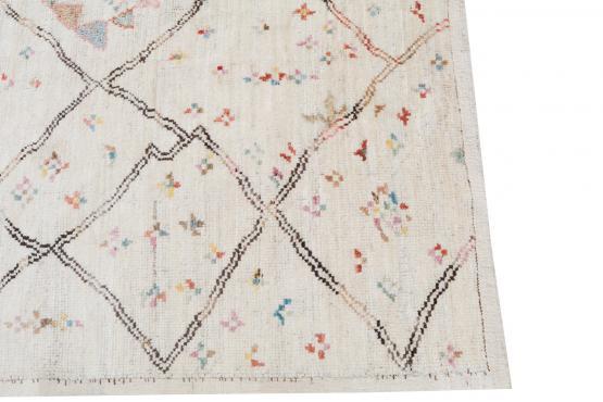 62251-Vintage Tribal All Wool Moroccan 8'2