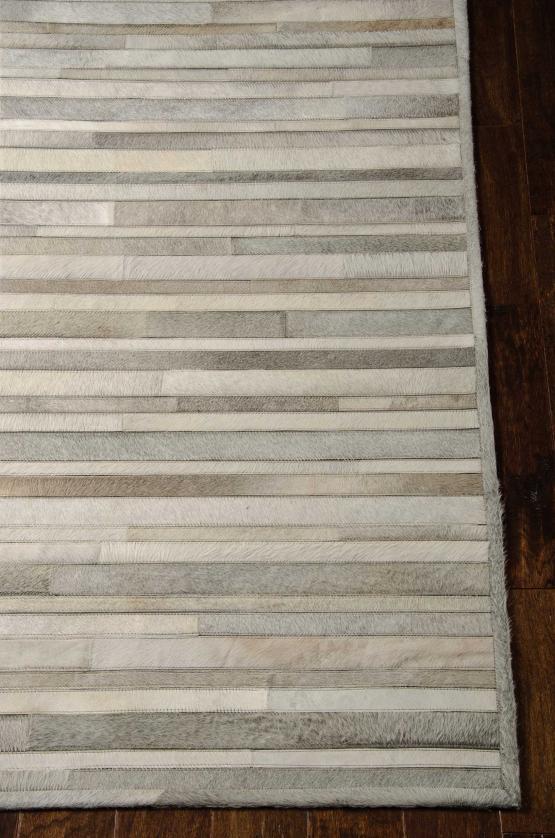 Handmade Cowhide Stripes ARP-01 Silver