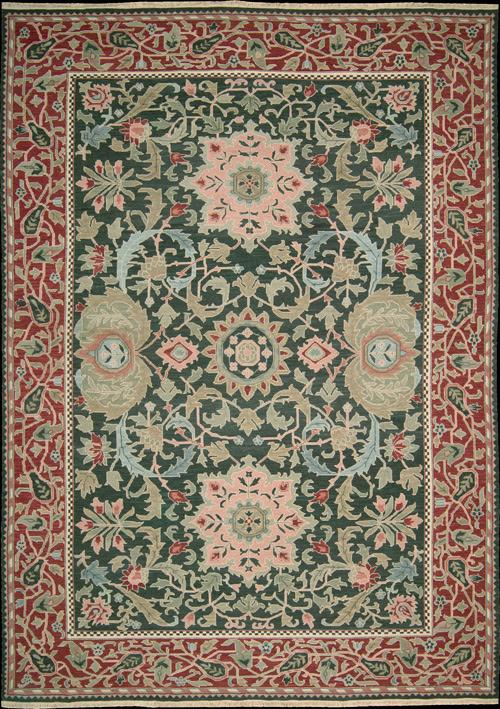 54296 Nourison Nourmak Sk40 Green 9x12 The Rug Warehouse