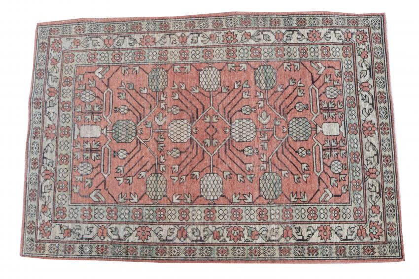 Hand Knotted Multi Color Rug Size