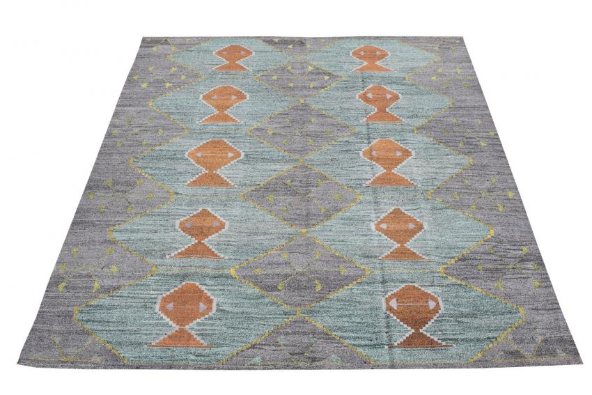 Turkish Kilim Woven with old Wool 12'3