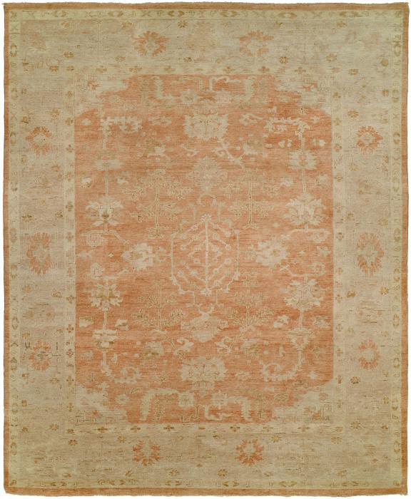 Ottoman KZ-131 Turkish Knot Rug Color Terracotta