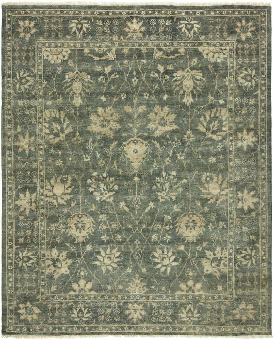 Oushak OU-465 Hand Knotted Rug Color Blue